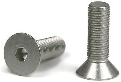 38-16 Flat Head Socket Cap Screws Allen Bolts Stainless Steel Screws - Qty 25