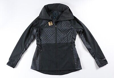 Burton Black Thermolite Quilted Light Weight Running Hiking Yoga Jacket M -