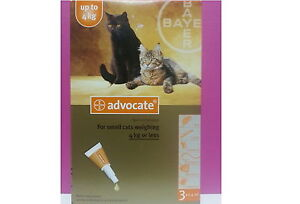 Advocate for Cats and Small Kittens up to 4kg 3 pk FREE SHIPPING