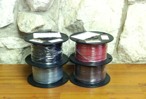500 FT TFN/TEWN WIRE. 18 AWG SOLID 600 VOLT. MADE IN USA.   5 COLORS AVAILABLE!
