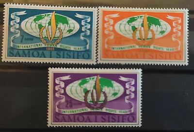 Samoa 1968 SG310-2 Human Rights MNH