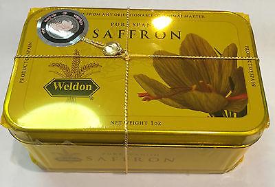 Kosher Certified Spanish Saffron 1oz / 28.35 grams in a tin - Saffron Tin