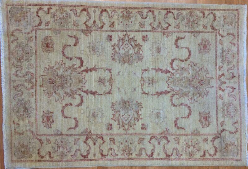 Perfect Peshawar - Vintage Pakistani Rug - Floral Oriental Carpet - 3.4 X 5 Ft