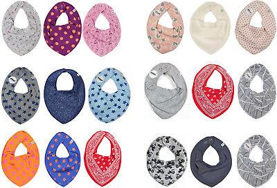 *PIPPI* Baby Halstuch Lätzchen Dreieckstuch im 3er Pack-  ideal beim