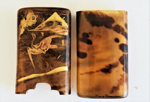 Antique Japanese Meiji Tortoiseshell Cigarette/Cigar Case