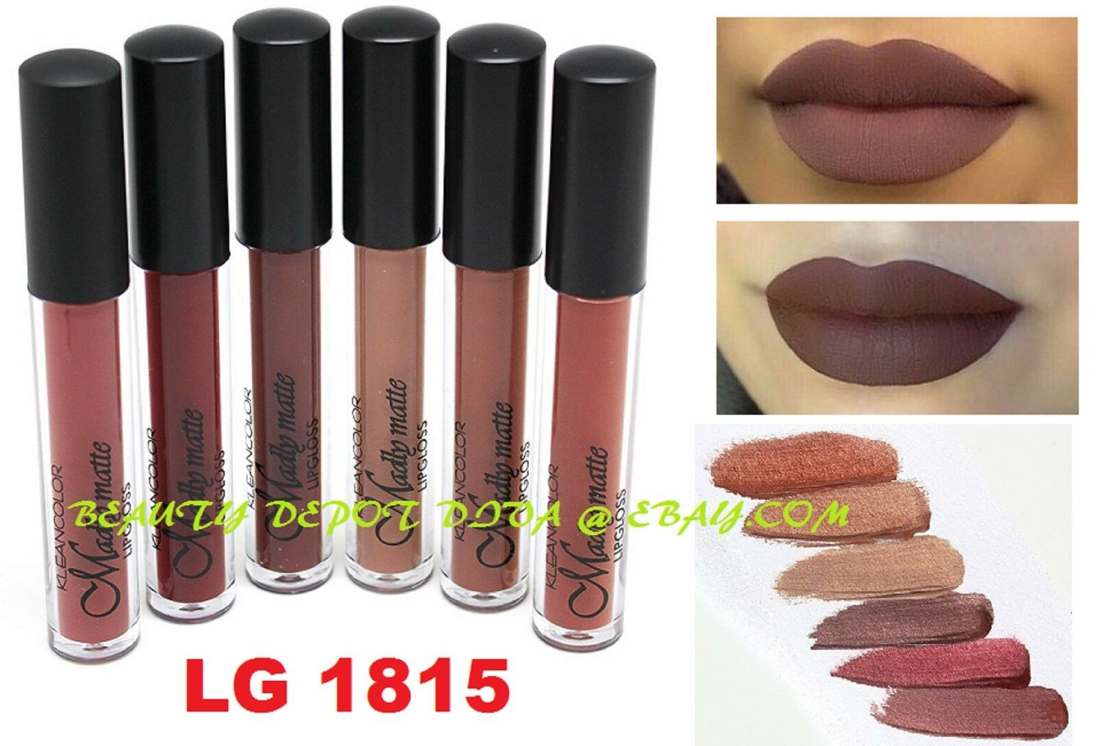 6 NEW Waterproof Long Lasting Makeup Lip Liquid Matte Lipstick Lip Gloss