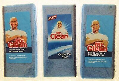 MR. CLEAN Sponge Mop Refill Refills Mop with Scrubber Head ~