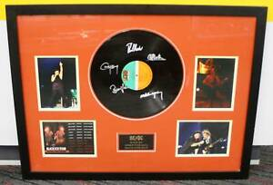 AC/DC Signed LP, Black Ice World Tour 2010, Framed With Pictures Nerang Gold Coast West Preview