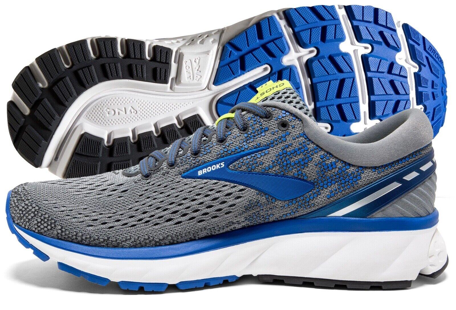 Brooks Ghost 11 Mens Running Shoe Grey/Blue/Silver multiple