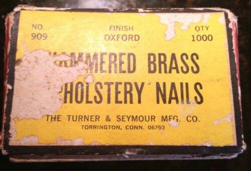 Vintage Antique Brass Upholstery Tacks Nails Qty of 100