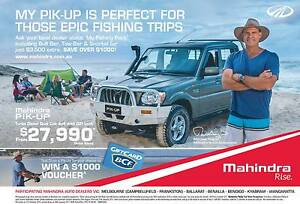 2016 Mahindra Pik-Up 4x4 Galv Trayback WIN a $1000 BCF Voucher South Bunbury Bunbury Area Preview