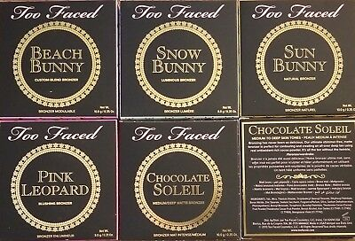 TOO FACED BRONZERS- CHOCOLATE SOLEIL PINK LEOPARD SUN BEACH SNOW  BUNNY *CHOICE* (Pink Chocolate)