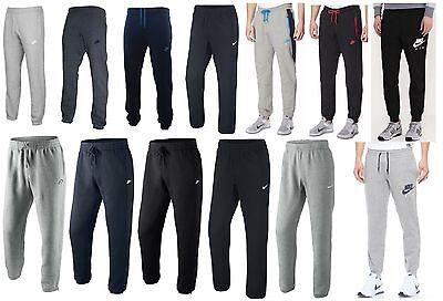 Mens NIKE Fleece Joggers Tracksuit Jogging Bottoms Sweat Pants Track S M L XL