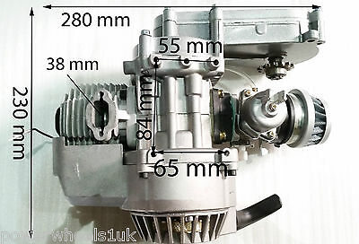 ENG02 ENGINE 49CC MINI DIRT BIKE ENGINE TRANSFER BOX MINI MOTO 2 STROKE