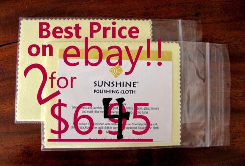 2 Sunshine POLISH Polishing Cloth Yellow Jewelry Polisher L 5x7 SHIPS FREE TODAY