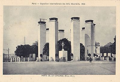 Original 1925 Paris Exposition des Arts Decoratifs Postcard Art Deco CONCORDE