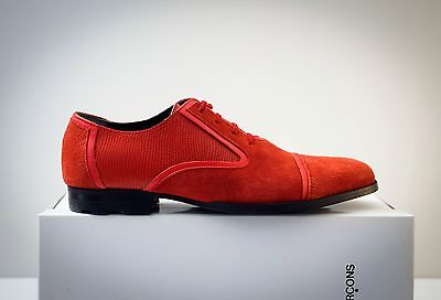 BNIB COMME des GARCONS Laced Shoes Red JP24 US9 flats Oxfords Brogues