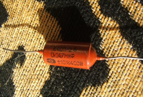 Soviet Military PIO Capacitor .047mF, From Unopened NOS Box!