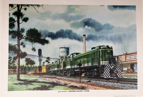 Southern Railway System Diesel Switchers Print by Howard Fogg