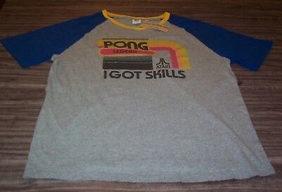 VINTAGE STYLE ATARI PONG LEGEND I Got Skills Video Game T-Shirt XL NEW w/ TAG