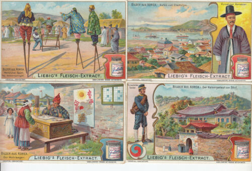 1904 Pictures from Korea   4x    German Liebig Card