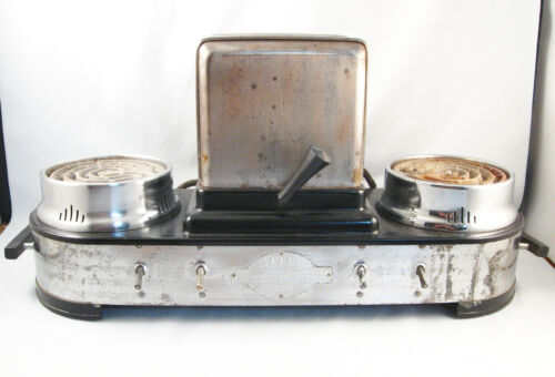 VINTAGE DINER RESTAURANT COUNTERTOP TOASTER W/ DUAL COFFEE POT WARMER