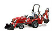 Compact tractor with loader and backhoe - Massey