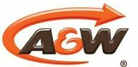 A&W ON DUNMORE RD IS HIRING A FT CLOSING COOK OR CASHIER