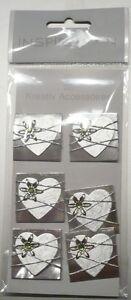 Sticker 3D Hochzeit Herzen - Scrapbooking - Embellishments - Kartengestaltung