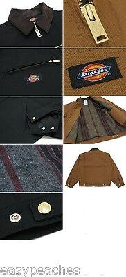 Dickies Men's S-2XL 3XL 4XL Blanket Lined Duck Work Chore Coat Jacket Brown Adult Duck Blanket Lined Jacket