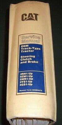 Cat Caterpillar D6m Crawler Tractor Dozer Service Shop Repair Manual 2rn 9zm 5wr