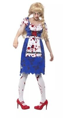 Zombie Bavarian Female Halloween Fancy Dress Costume Small](Female Zombie Costumes)