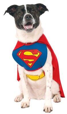 Pet Dog Cat Superman Superhero Halloween Clothes Fancy Dress Costume Outfit S-XL