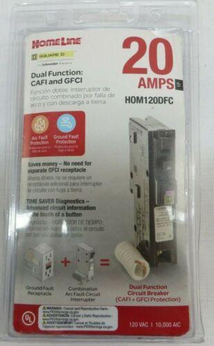 Square D HOM120DFC Homeline 20-Amp Single-Pole Dual Function Circuit Breaker