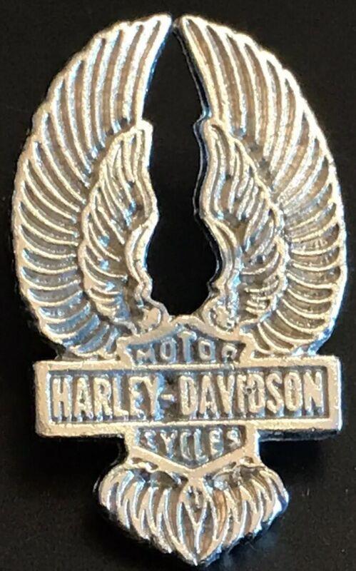 Vintage Harley-Davidson Motorcycle  Wings Metal Lapel  Pin