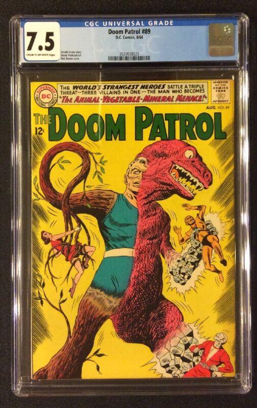 DOOM PATROL #89 Comic CGC 7.5 DC 1964 Silver Age ANIMAL VEGETABLE MINERAL MENACE