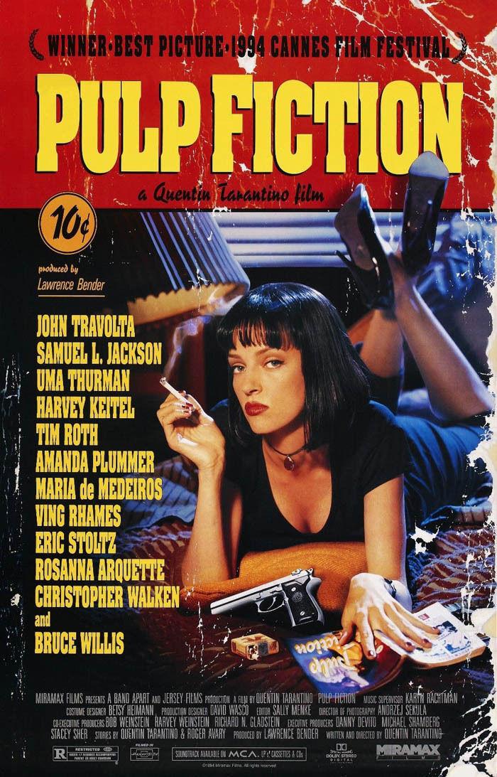 Art Pulp Fiction Classic Movie Vincent Vega Jules Canvas Fabric Poster 1121