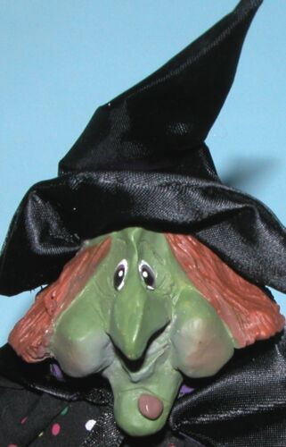 "Russ Berrie K Kelly ""Grizelda"" Halloween witch Autumn mixed media #2971"