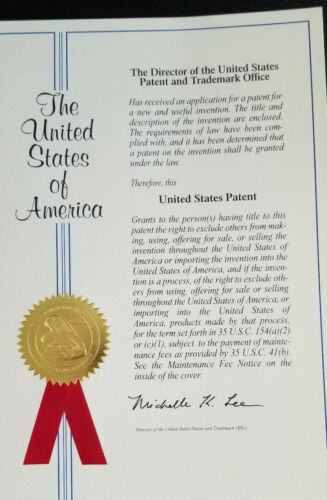 US. Patent for sale with website, and inventory of products