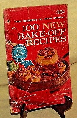 PILLSBURY BAKE OFF 1964 15TH GRAND NATIONAL NEW RECIPES VINTAGE COOKBOOK ILL*