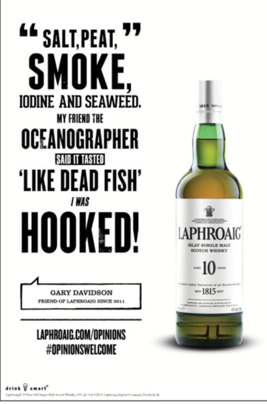 "Laphroaig Poster ""dead Fish"" 18 By 26 Poster"
