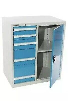 Shopflow Modular Parts Tool Storage Cabinet 5 Drawer 34w X 22d X 39h - New