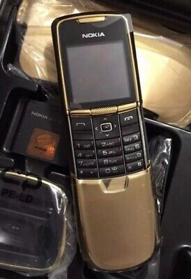 Nokia 8800 Classic Gold Original Full Box (ohne Simlock) w. Neu! Original Nokia Box