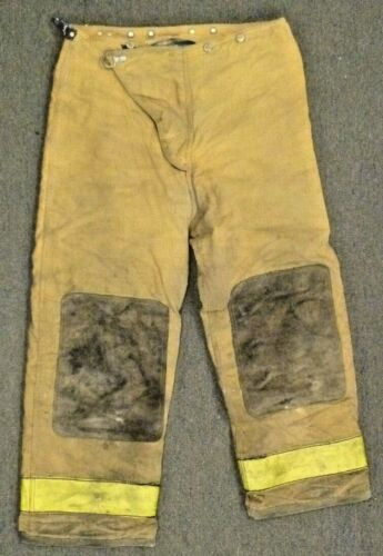 36x30 Globe Tan Firefighter Pants Turnout Bunker Fire Gear P048