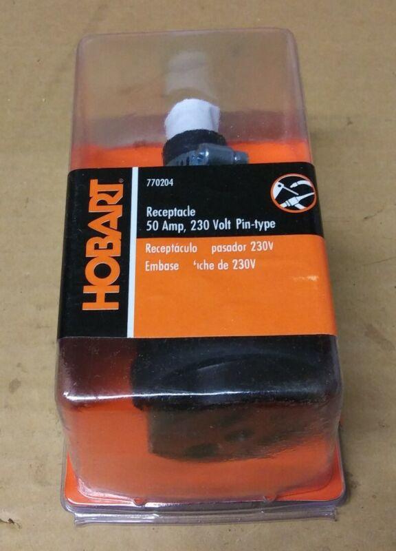 New Hobart 50 Amp 230 Volt Pin-type Receptacle 770204