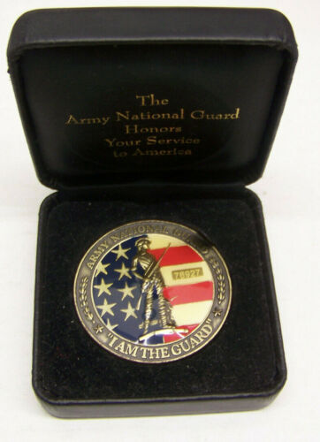 "Army National Guard ""I AM THE GUARD"" Numbered 76927 Service Medal -  with BOX"