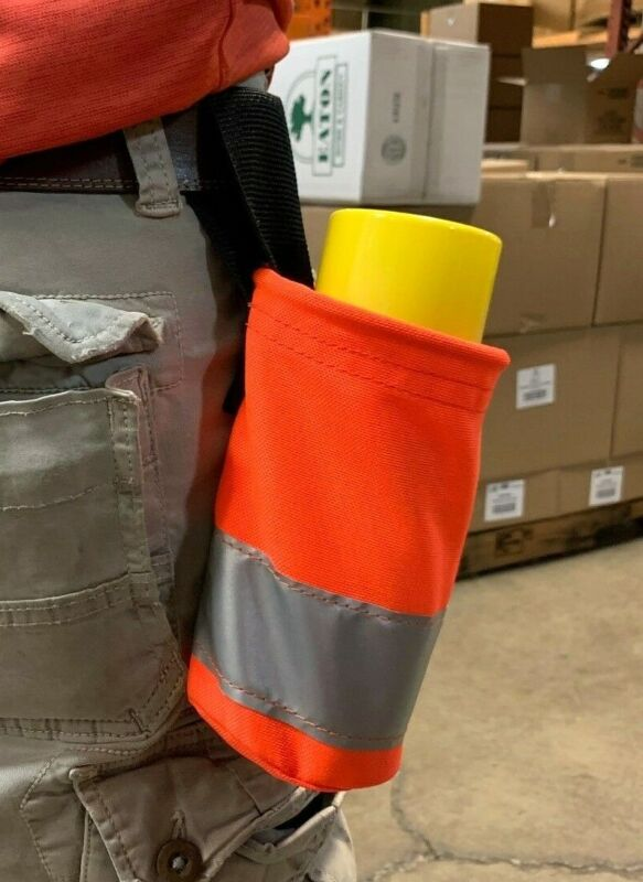 Spray Can Holster - HI VIS w/ Reflective Stripe - MADE IN USA - fits up to 32oz