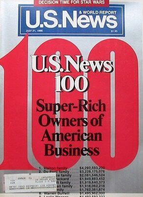 Us News   World Report Magazine July 21 1986