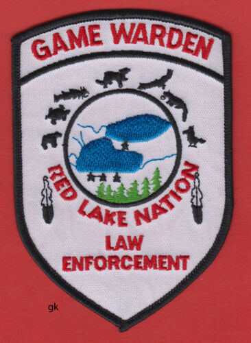 RED LAKE NATION MINNESOTA GAME WARDEN POLICE SHOULDER PATCH
