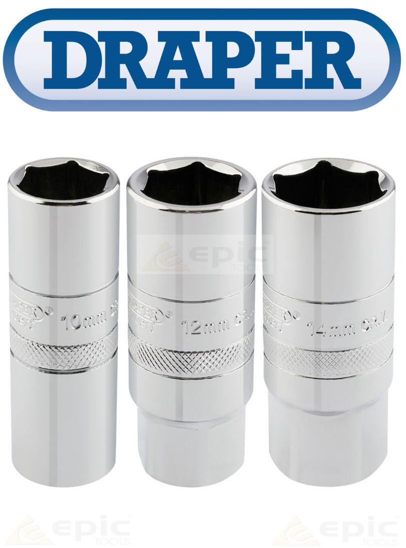 """16mm Socket Draper 1//2/"""" Square Drive 10mm Thread 6 Point Spark Plug Socket"""